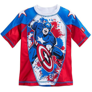 Captain America Rash Guard for Boys