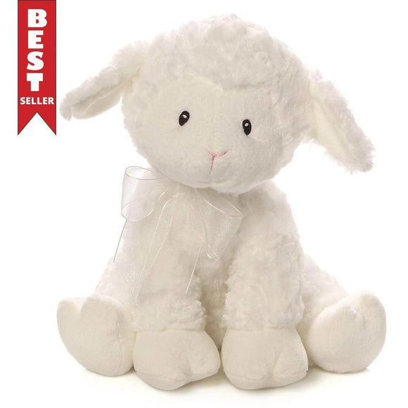 Jesus Loves Me Lena Lamb Musical Stuffed Animal (With Winding Key)