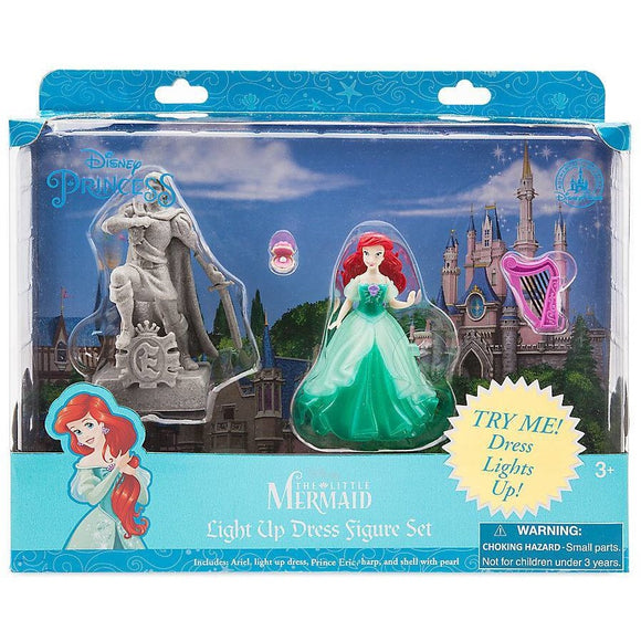 Ariel Light-Up Dress Figure Play Set