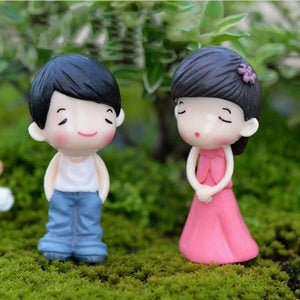 Young Couple Resin Figures