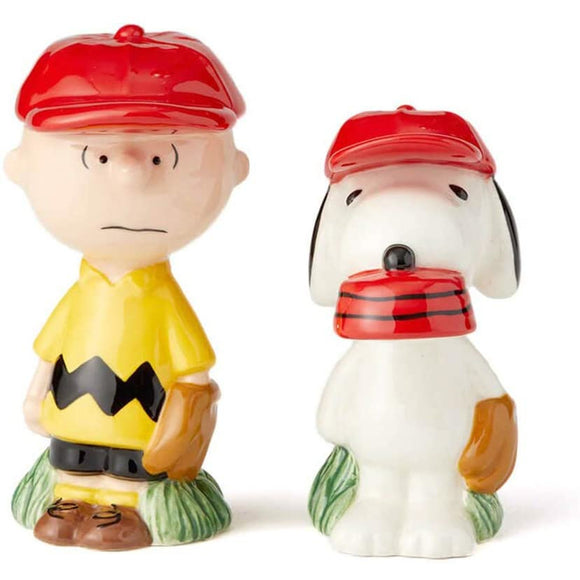 Peanuts Charlie Brown & Snoopy Baseball Salt and Pepper Set