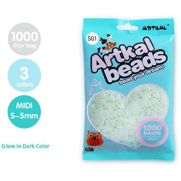 Artkal Fuse Beads 5 mm Glow In The Dark (3 Colors)