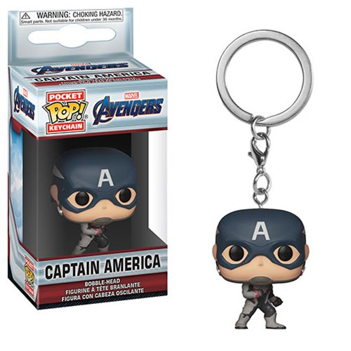 Avengers: Endgame Captain America Pocket Funko Pop! Key Chain