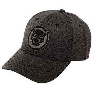 Black Panther Rubber Weld Cationic Flex Cap Hat