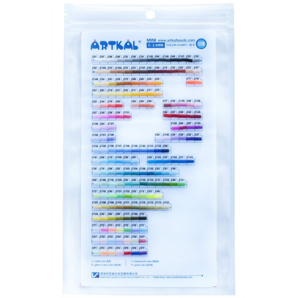 2.6 mm Artkal Beads Real Color Chart (C)