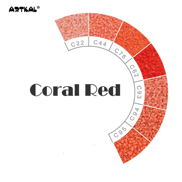 Artkal Fuse Beads 2.6 mm Coral Red Family 1000 Pieces