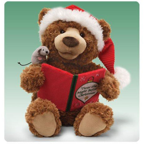 Christmas Bear Animated Story Time Plush