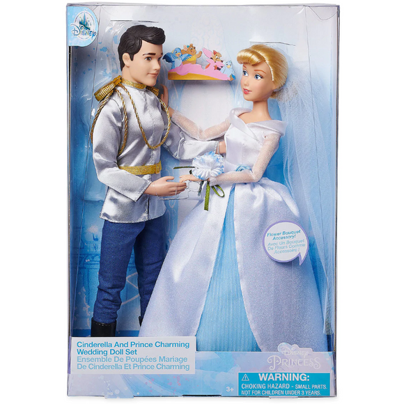 Cinderella and Prince Charming Classic Wedding Doll Set