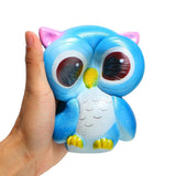 Super Slow Rise New Blue Owl Scented Squishy