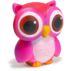 Super Slow Rise New Pink Owl Scented Squishy