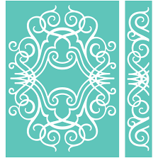 Cricut® 5x7 Embossing Folder & Border, Nathaniel's Penwork