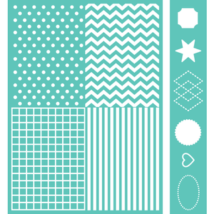 Cricut® Embossables Pattern & Icon Folder, Basic Shapes