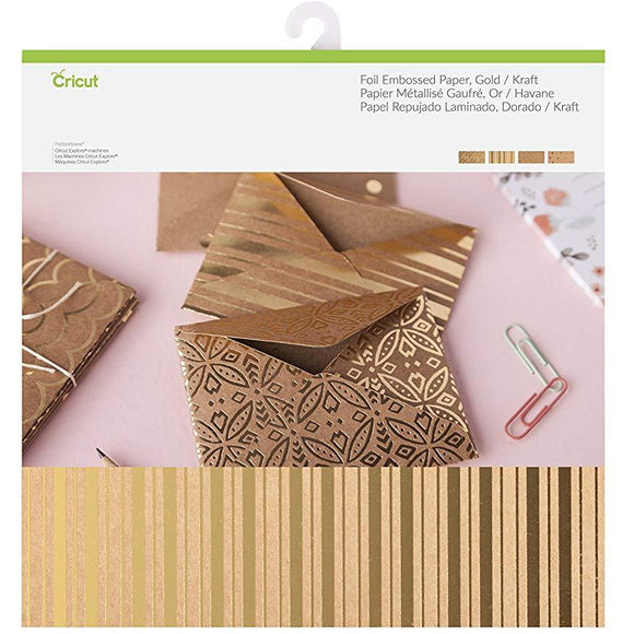 Cricut® Foil Embossed Paper - Gold/Kraft
