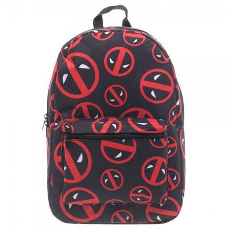 Deadpool Logo Print Backpack