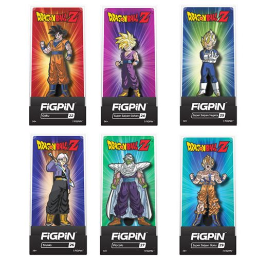 Dragon Ball Z FiGPiN Enamel Pins 6-Pack Display