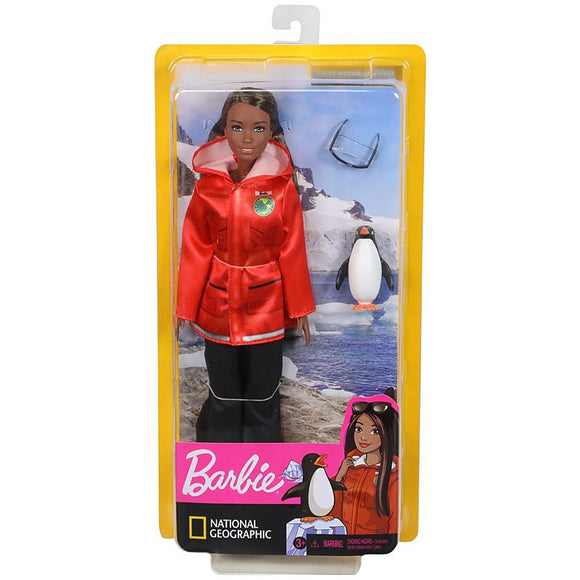 Barbie Polar Marine Biologist Brunette Doll with Penguin Inspired by National Geographic