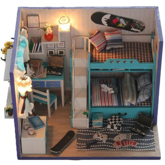 My Little Good Buddies (Blue) DIY Miniature Dollhouse