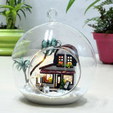 Mini Cafe House DIY Glass Ball House Series