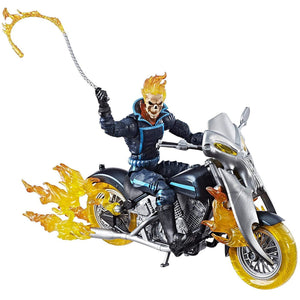 Avengers Ultimate 6 Inch Legends Ghost Rider with Flame Cycle