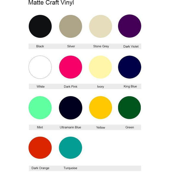 Matte Craft Vinyl Sticker Generic