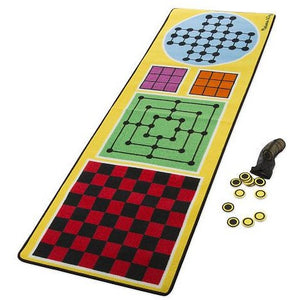 Melissa & Doug 4-in-1 Game Rug with 36 Play Pieces