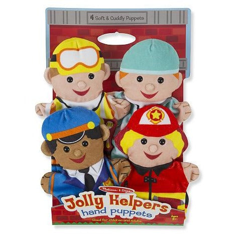 Melissa & Doug Jolly Helpers Hand Puppets (Set of 4)
