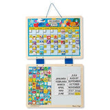 Melissa & Doug Monthly Magnetic Calendar With 133 Magnets and 2 Fabric-Hinged Dry-Erase Boards