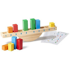 Melissa & Doug Rainbow Balance Wooden Classic Rocking Toy