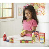 Melissa & Doug Wooden Pantry Products Play Food Set (9 pieces)