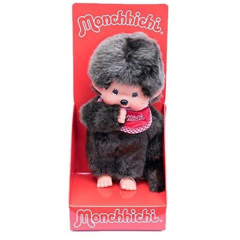 Monchhichi Boy Red Bib Plush