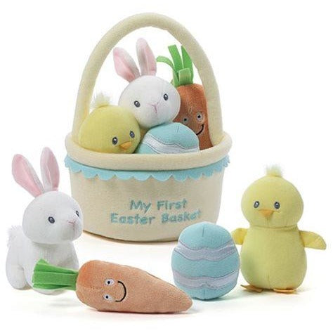 GUND My First Easter Basket Plush Playset