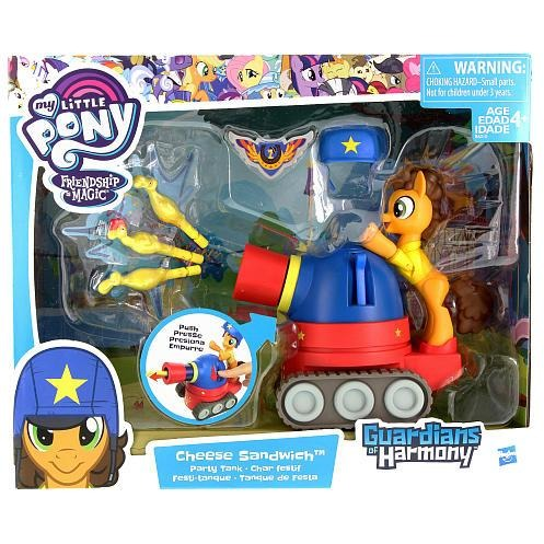 My Little Pony Friendship is Magic Guardians of Harmony Cheese Sandwich Pony with Party Tank
