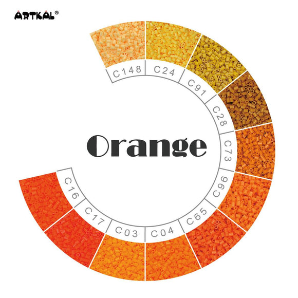 Artkal Fuse Beads 2.6 mm Orange Family 1000 Pieces