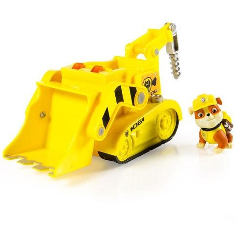 Paw Patrol Rubble' s Lights and Sounds Construction Truck Vehicle with figure