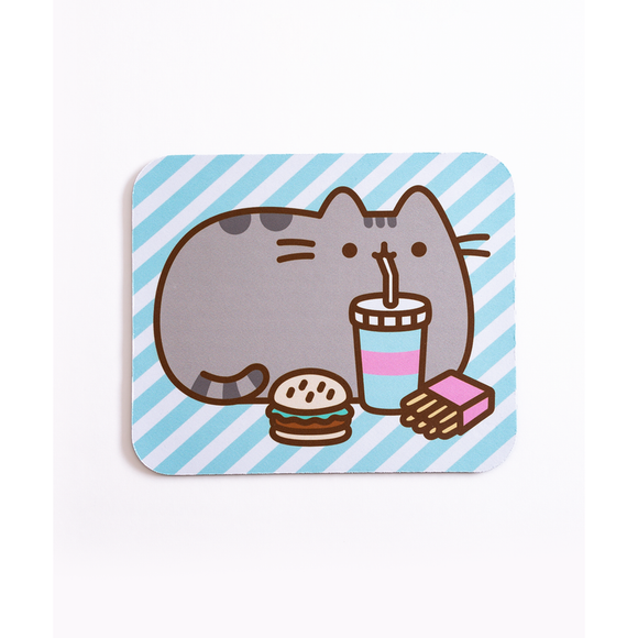 Pusheen The Cat Fast Food Mouse Pad