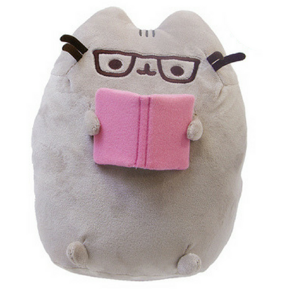 Pusheen Reading A Book Plush