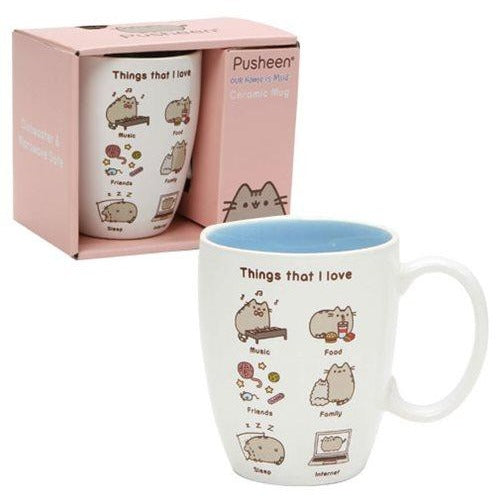 Pusheen the Cat Things I Love 12 oz. Mug