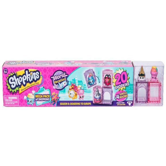Shopkins Season 8 World Vacation Boarding to Europe Mega Pack