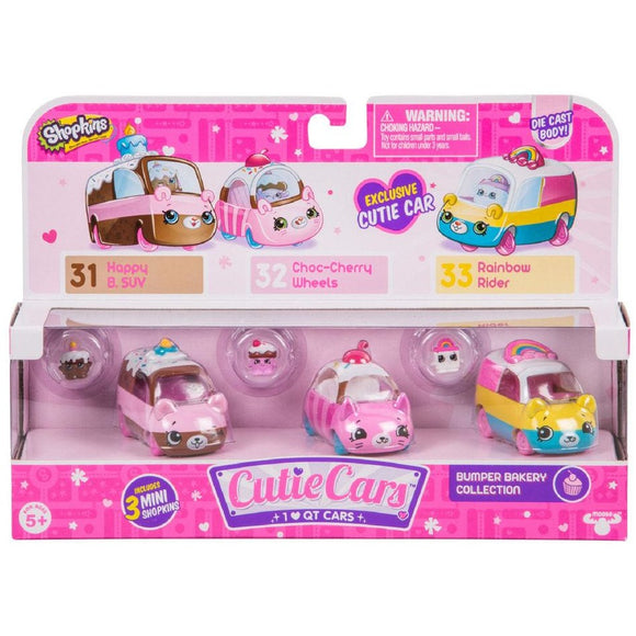 Shopkins Series 1 Cutie Cars 3-Pack - Bumper Bakery