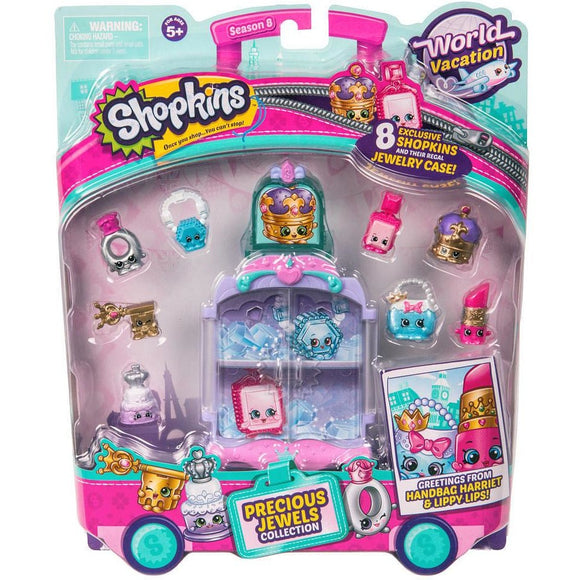 Shopkins Season 8 World Vacation Europe Precious Jewels Collection Pack