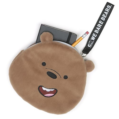 We Bare Bears Grizz Deluxe Zipper Pouch