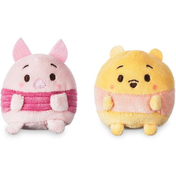 Winnie the Pooh and Piglet Ufufy Plush Set - Mini 2 1/2''