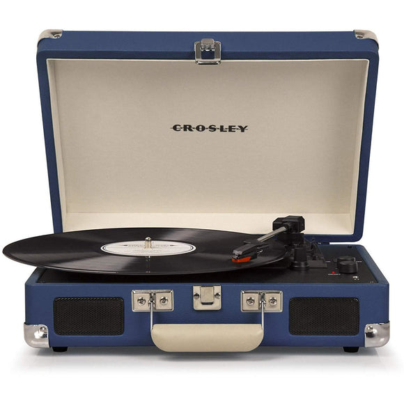 Crosley Cruiser Deluxe Portable Suitcase Turntable - Blue (PRE-ORDER)