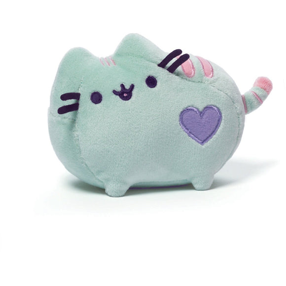 Pastel Green Heart Pusheen