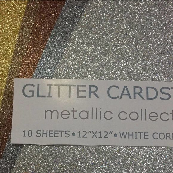 Meatallic Collection 12x12 Glitter Cardstock