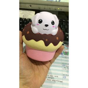 Super Slow Rise Puppy Chocolate Cupcake Scented Squishy