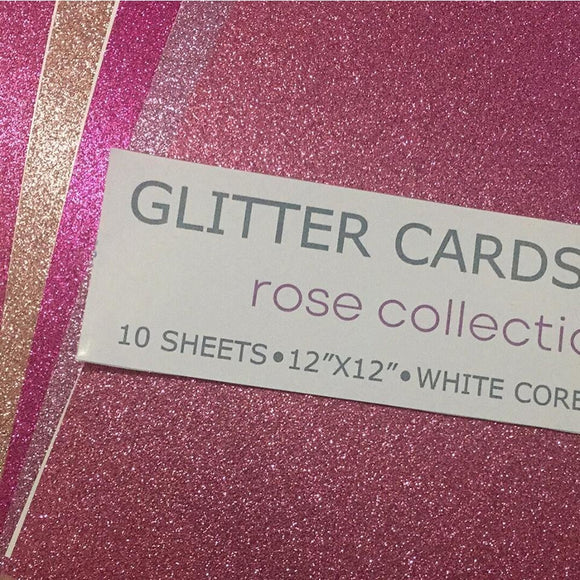 Rose Collection 12x12 Glitter Cardstock