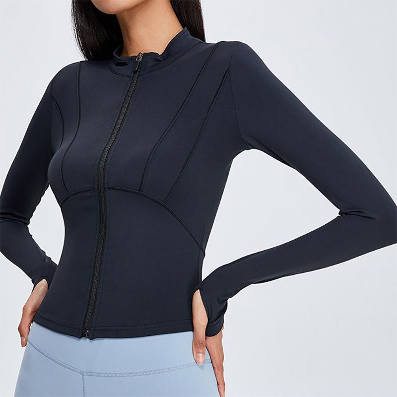 Top Zipper Cardigan
