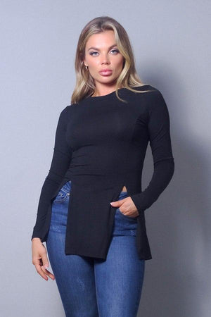 Black Split Top