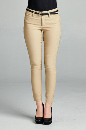 Belted Ankle Length Pants